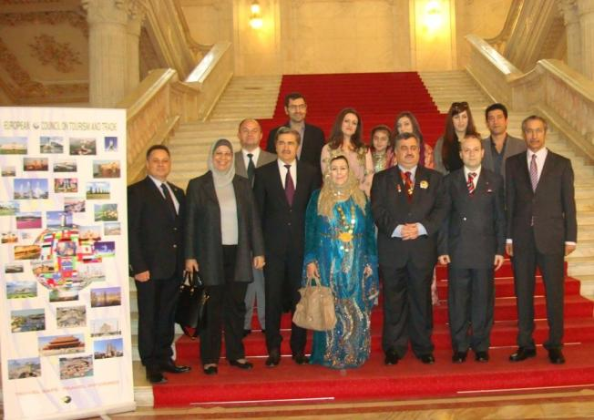 President Anton Caragea and Group of Arabian ambassadors