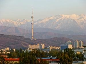 Blick auf Tian Shan Gebirge