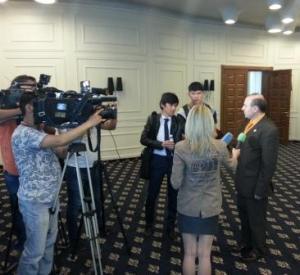 ECTT President in Almaty-Press Conference