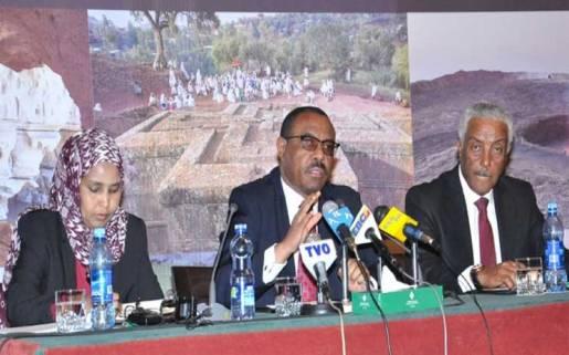 Academician Hailemarian Desalegn and Solomon Tadesse