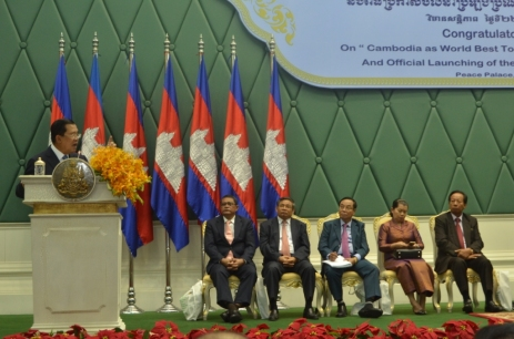Academician HUN SEN express his gratitude for European Council on Tourism and Trade