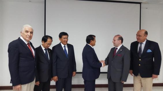 Dialogue at Minister of Tourism President Anton Caragea and Minister Khon Thong
