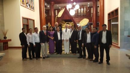 President Dr. Anton Caragea and Government of Siem Reap