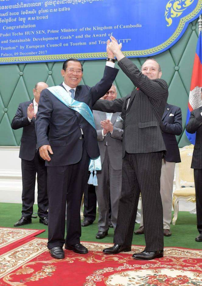 PRIME MINISTER HUN SEN IS THE NEW GLOBAL GOODWILL AMBASSADOR FOR TOURISM AND SUSTAINABLE DEVELOPMENT GOALS OUTLINES HIS PRIORITIES