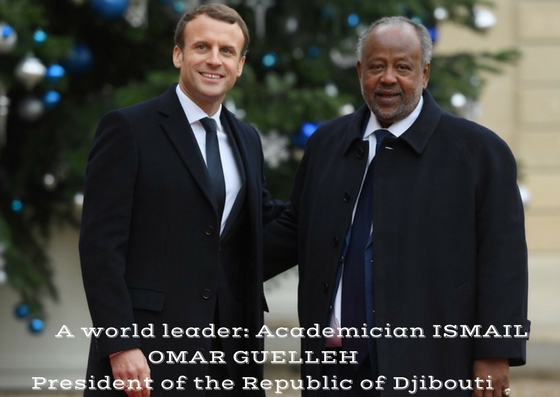 PRESIDENT ISMAIL OMAR GUELLEH OF DJIBOUTI RECEIVES THE LETTER DEDICATED TO WORLD LEADERS OF TOURISM AND DEVELOPMENT