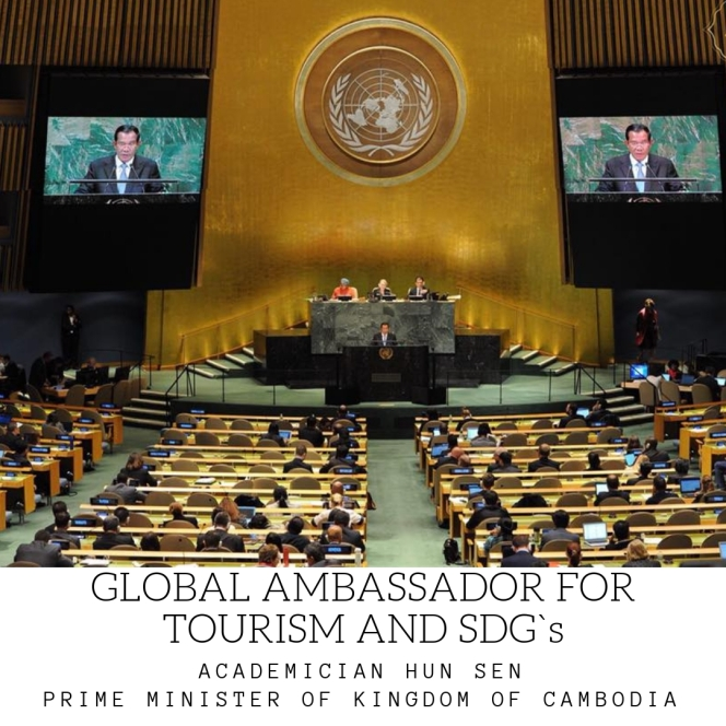 UNITED NATIONS GENERAL ASSEMBLY LISTEN TO THE GLOBAL AMBASSADOR FOR TOURISM AND SDG`S REPORT
